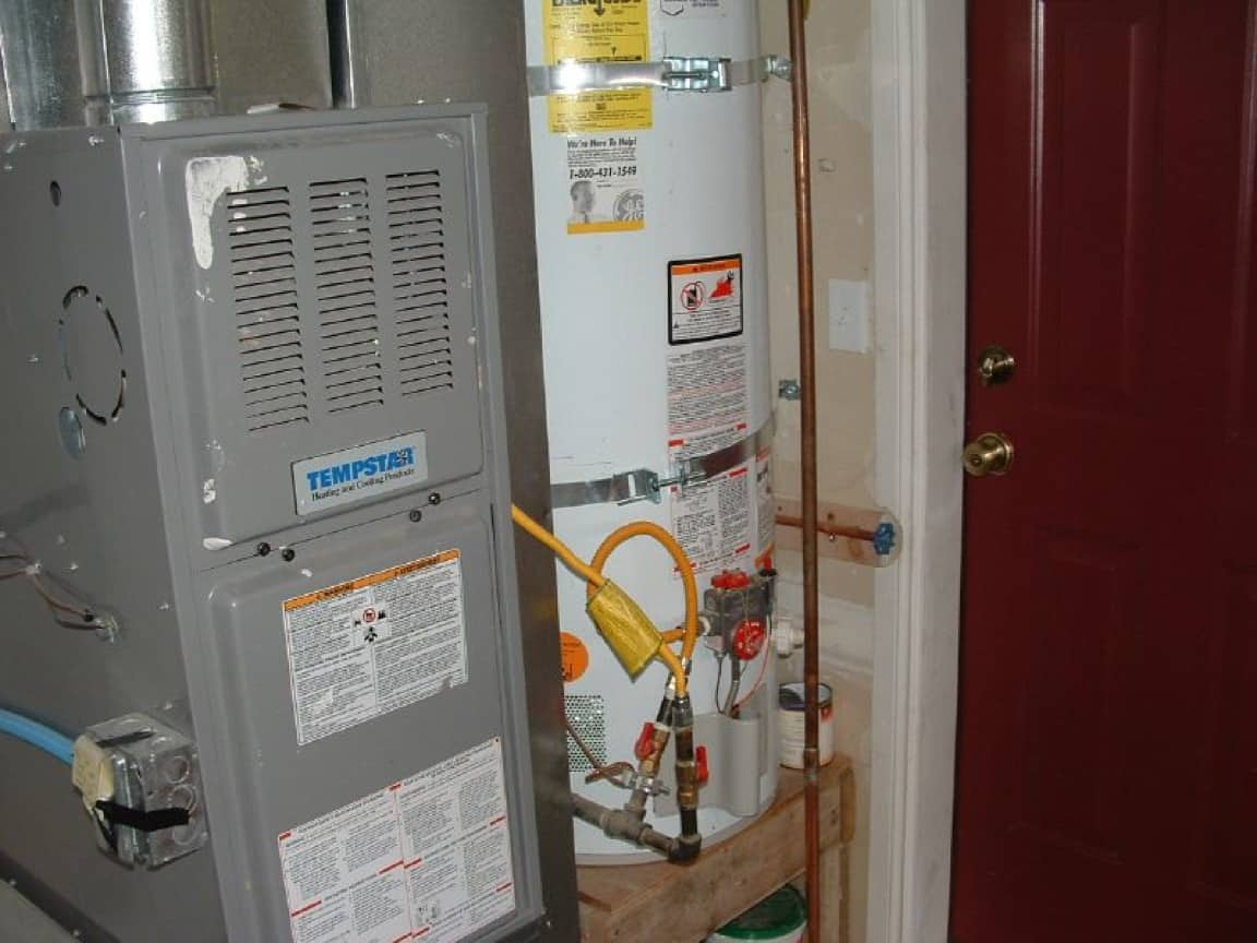 A home heater and a water heater