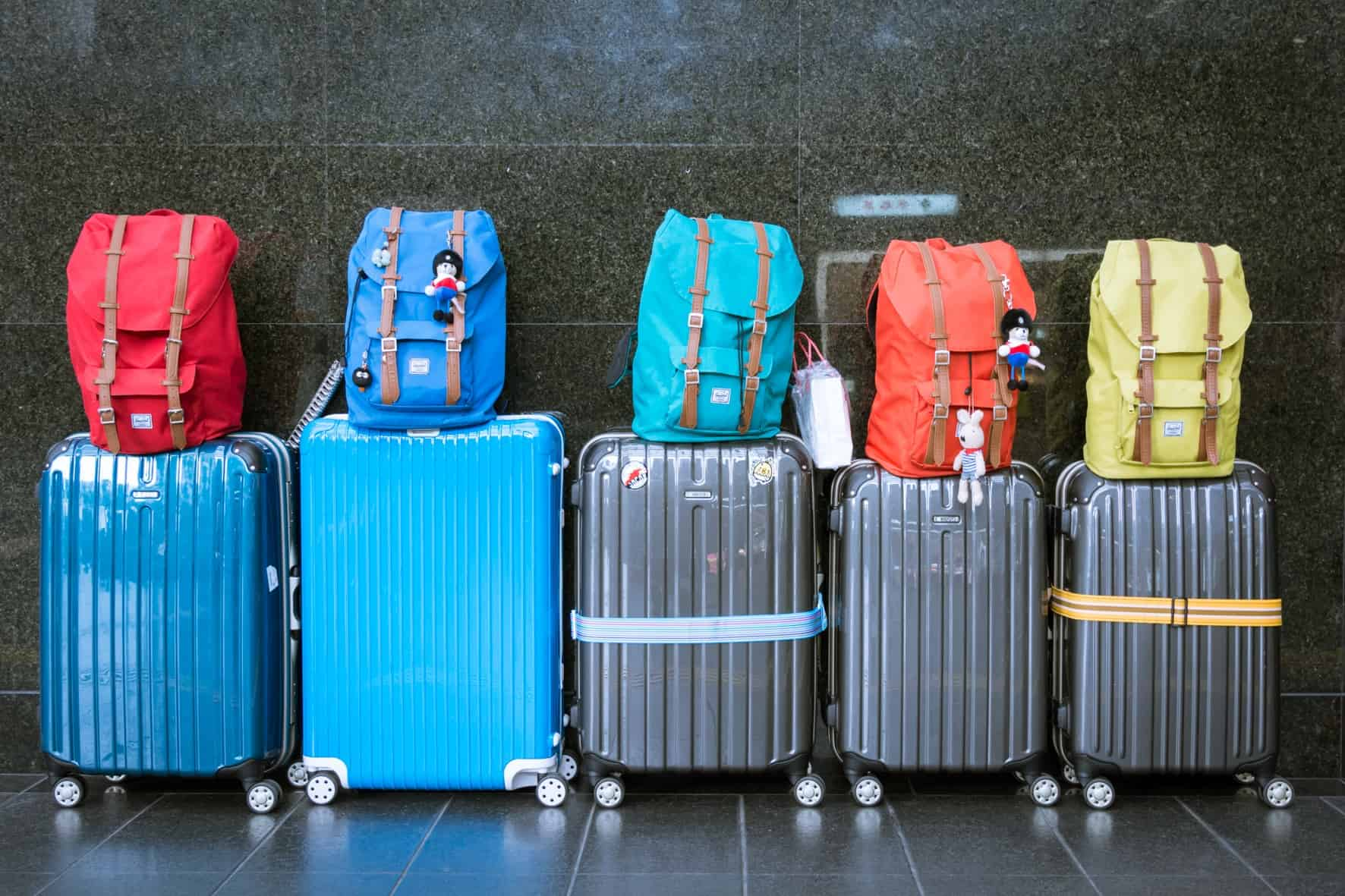 Pieces of luggage