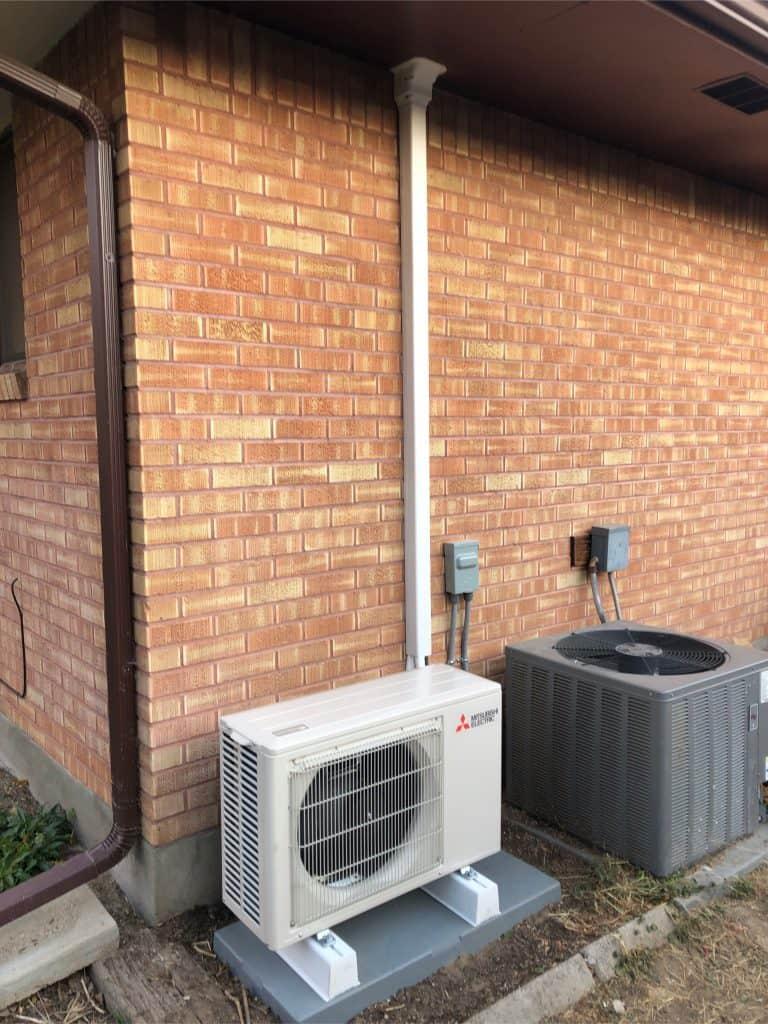 heat pump outside a home office in Boise, ID
