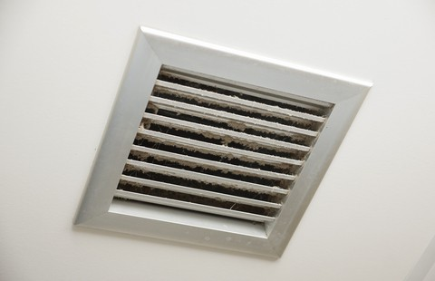 Vent with dust on it in a Kuna, ID home