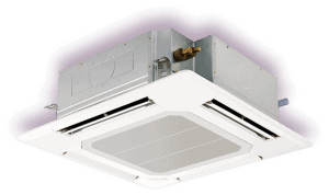 Recessed Ceiling Cassette For Ductless Heating And Cooling In Eagle, ID Homes